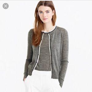 J.Crew tipped lightweight cardigan Jackie sweater